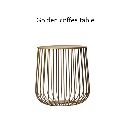 Fashion Scandinavian coffee table small apartment living room pumpkin coffee table modern minimalist side table living room high foot small bar table toughened glass bars table fashion household coffee bar table