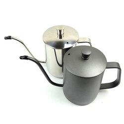 350 ml/600 ml קפה תה סיר 304 נירוסטה ארוך צר מתכווננת יד טפטוף קומקום יוצקים מעל קפה סיר עם מכסה