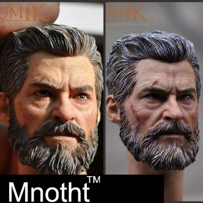 купить New Custom 2 Style KUMIK 1/6 Soldier Logan Head Carving Wolverine 3 Bloody World War Wolf Uncle for 12
