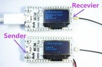 2PCS 868MHz 915MHz SX1276 ESP32 LoRa 0 96 Inch Blue OLED Display Bluetooth WIFI Lora Kit