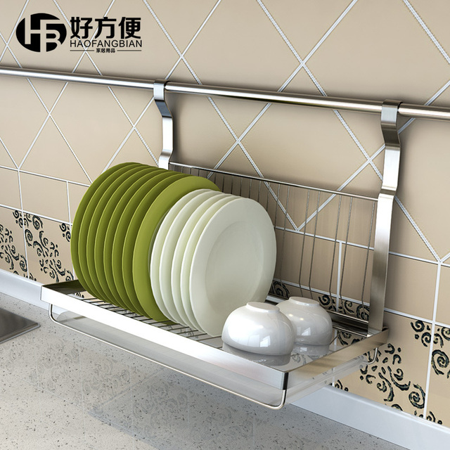 Good Convenient Folding Rack Dish Rack Dish Rack Drain Rack Storage Rack  Kitchen Wall Shelf Wall