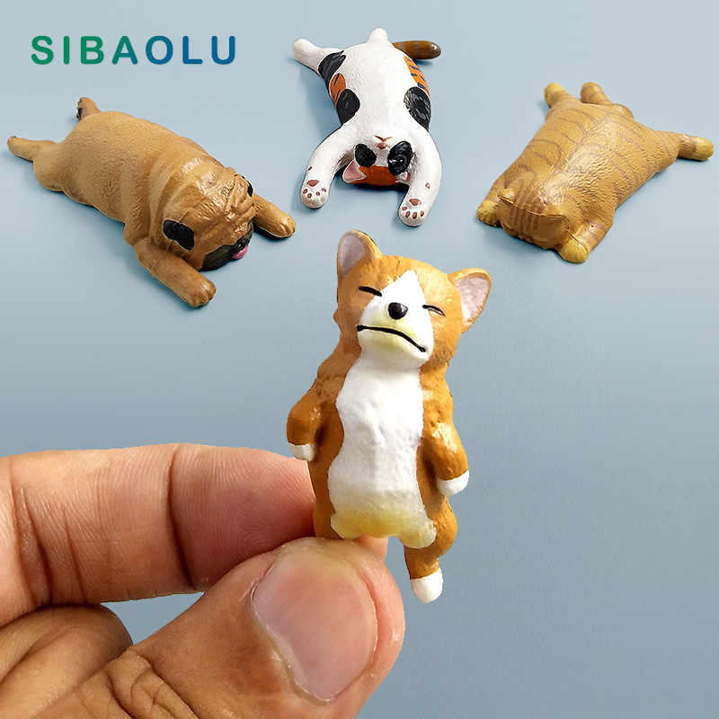lie down animal Miniature figurine Cat Dog Bonsai Decoration Fairy Garden statue Model people Resin craft toy ornaments