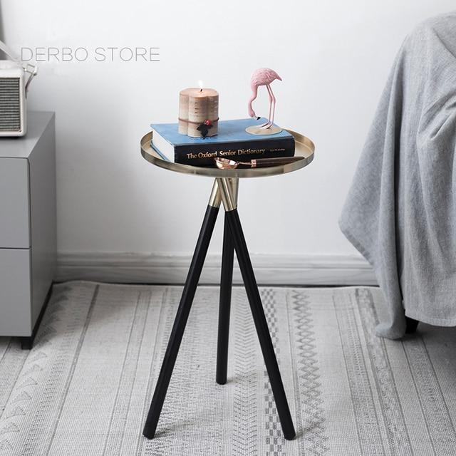 Modern Design Loft Style Round Metal Side Table Fashion Por Nordic Living Room Sofa Corner Small Bedside 1pc