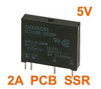 10 pcs G3MB-202P DC-AC SSR PCB Em 5VDC, Saída 240 V 2A AC Relé de Estado Sólido