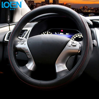 Hot Sales Stitches Leather Vehicle Car Steering Wheel Cover Non Slip Universal Cover On The Steering