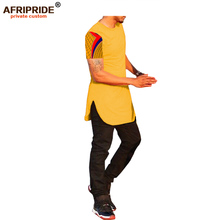 2018 summer casual T-shirt for men AFRIPRIDE short sleeve o-neck thigh length style zipper back fly A1813001