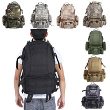 50L Outdoor Multifunction Sport Bag Backpacks Molle Military Tactical Bag Backpack Waterproof Rucksack For Climbing Camping