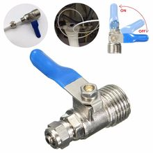 Tahan Lama Copper1/2 untuk 1/4 Inch Ro Feed Filter Air Adaptor Ball Keran Reverse Osmosis Switch(China)
