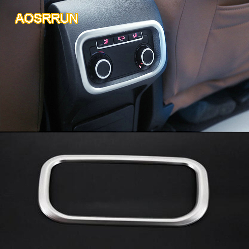 AOSRRUN The back Air-conditioning Outlet Cover Air conditioning knob Car Accessories For Seat Alhambra MK2 2010-present