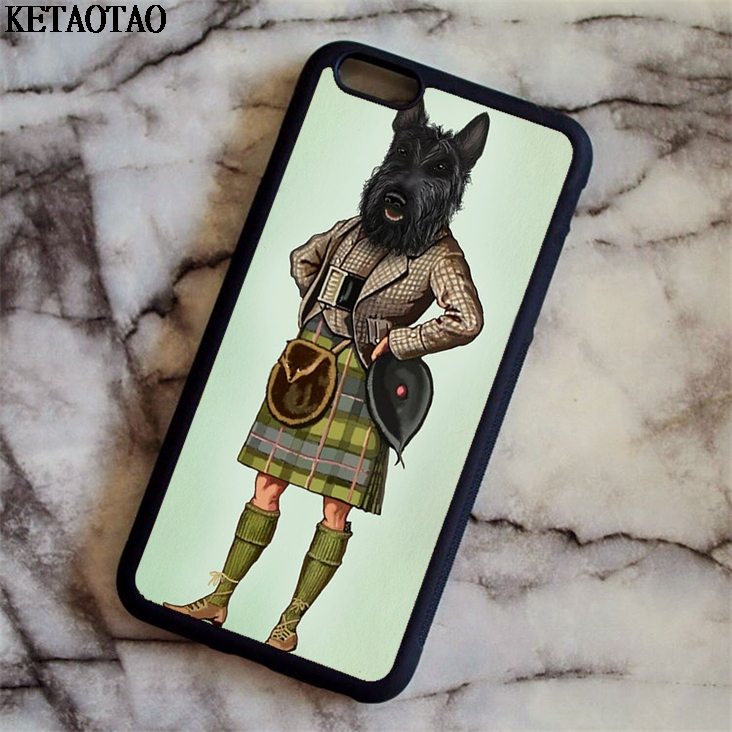 KETAOTAO Scottie Chien Kilt ecossais terrier Animal Phone Cases for iPhone 5 6S 7 8 X for Samsung Case Soft TPU Rubber Silicone
