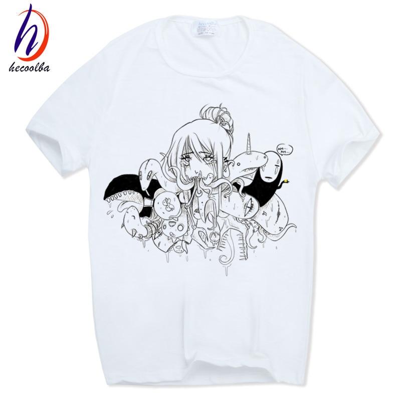 2018 Männer's Schlechter Frau Anime Ahegao T-shirt Kurzarm Oansatz Tops Tees Männer Sommer T-shirt Hip Hop Swag T-shirt, Hcp165