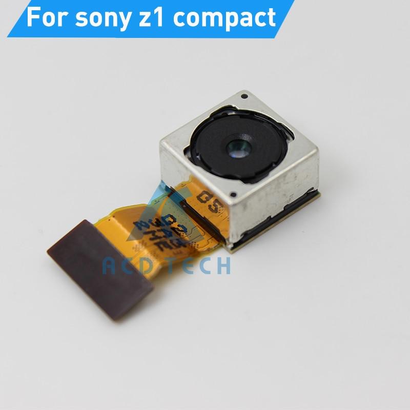 imágenes para Original principal trasero grande cámara flex cable de la cámara para sony z1 compact m51w volver piezas de repuesto cámara refubishment