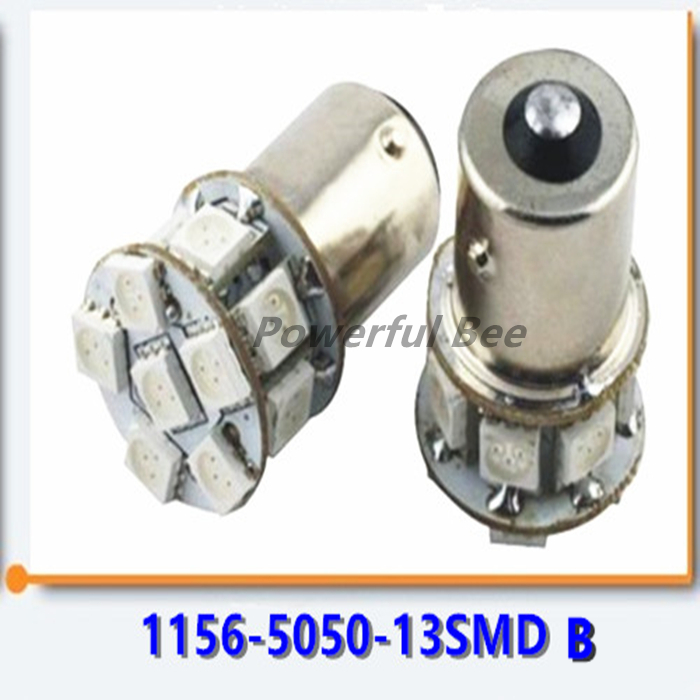 2 x 1156/BA15S p21w 5050SMD*13 white yellow motorcycle bike car LED turn signal light brake lamp bulb