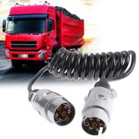 VODOOL 7 Pins Trailer Plug Poles 12V With Cable Adapter Wiring Connector Car Trunk Vehicle Wiring