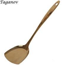 Столовая посуда лопатка из чистой меди латунь домашняя с длинной
