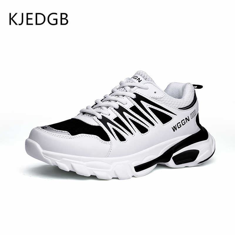 9399c0dc816 KJEDGB 2019 New Spring Summer Men Shoes Comfortable Platform Casual Shoes  Man Mesh Breathable Adult Male Fashion Men Sneakers