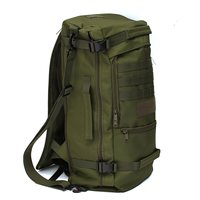 High Quality 50L Canvas Outdoor Sports Military Tactical Rucksack Camping Hiking Backpack Climbing Bag Double Shoulder