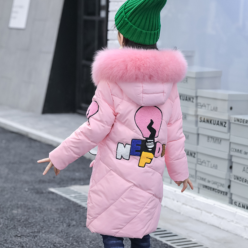 Child Girls Winter Jackets Kids Hooded Coats Thick Children's Warm Parkas Girl Winter Coat With Fur High Quality Outdoor 4-12Y womens winter jackets and coats 2017 thick warm hooded down cotton padded parkas for women s winter fur jacket female mante