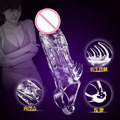 male penis enlargement extender backstab sleeve dildo extension reusable condom delay cock sleeves sex products toys for men