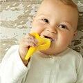 2016 de silicona médica Mordedor bebé dentición de silicona plátano anillo de entrenamiento Mordedor cepillo de dientes Cecurity infantil cepillo de dientes cuidado