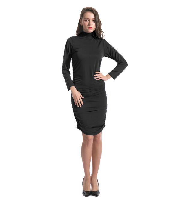 Women Autumn Sexy  Dress Lady Tight Bodycon Dress Long Sleeve Fashion Slim Dress For Women Winter Short Dress