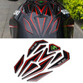 Universal 3d reflexivo motocicleta tampa do tanque de combustível protector pad etiqueta decoração decal para honda suzuki yamaha kawasaki ktm