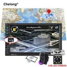 """2 Din di Navigazione GPS MP5 Auto Lettore 7 """"HD Bluetooth Stereo Radio FM Specchio Link Audio USB Auto di Elettronica autoradio 7021G"""