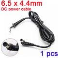 Dc plugue do cabo 6.5*4.4mm/6.5x4.4mm dc cabo de alimentação para sony carregador portátil cabo de alimentação dc jack cable