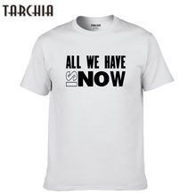 TARCHIA 2019 new Slim Fit Hip Hop Men Plus Size Tees Tops Homme all we have Print Tops Cotton Short Sleeve Summer T Shirt Casual(China)