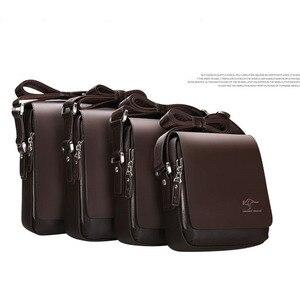 Image 3 - New Arrived luxury Brand mens messenger bag Vintage leather shoulder bag Handsome crossbody bag handbags Free Shipping