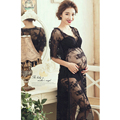 Maternity Pregnant Women White Lace Long Dresses Photography Props Fancy Pregancy Photo Shooting Gown vestido maternidad fotos