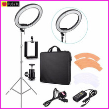 "Fusitu 18"" 240pcs LED 5500K Dimmable Photography Video LED Photo Ring Light Kit for DSLR Camera"