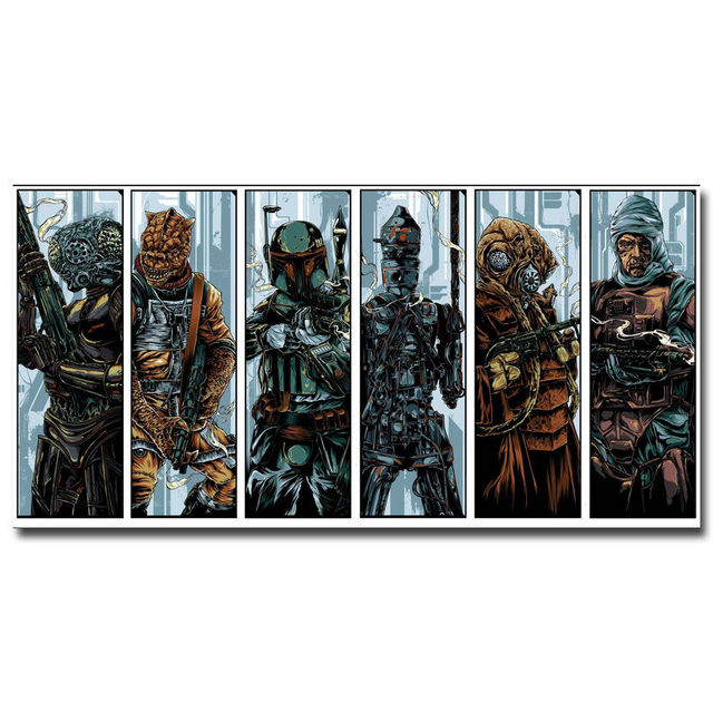 Star Wars 7 Boba Fett Bounty Hunter Pop 14×21 24×36 Inches Silk Art Poster Top Fabric Print Home Wall Decor