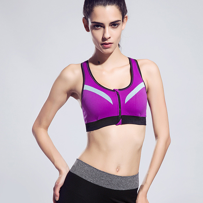 Sports & Entertainment Elastic Seamless Women Sport Bra Fitness Running Wire Free Jogging Strappy Bra Anti-vibration Push Up Padded Bra Sports Clothing
