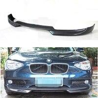AC style F20 Carbon Fiber Front Bumper Lip Diffuser spoiler For BMW F20 Standard Bumper 2012 2013 2014