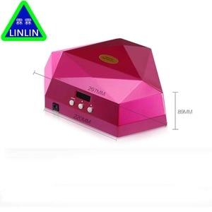 Image 2 - LINLIN Iki el elmas manikür lambası, 60 W güneş ışığı fototerapi makinesi, tırnak makinesi soğuk ışık kaynağı zarar vermez eller.