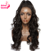 Atina Queen 180 Density 360 Lace Frontal Wig with Baby Hair Body Wave Brazilian Natural Color Pre Plucked 100% Remy Human Hair