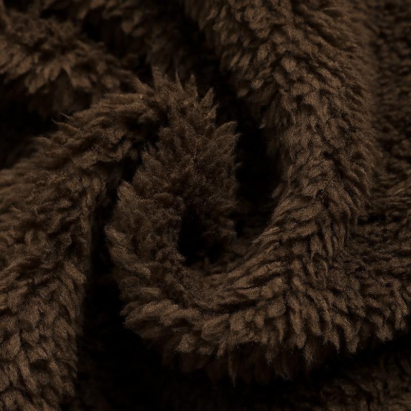 HTB1CN1fX8r0gK0jSZFnq6zRRXXaW ZANZEA Women Fluffy Coat Oversized Long Sleeve Jackets Female Button Outwear Winter Warm Poncho Solid Autumn Top Lady Jumpers