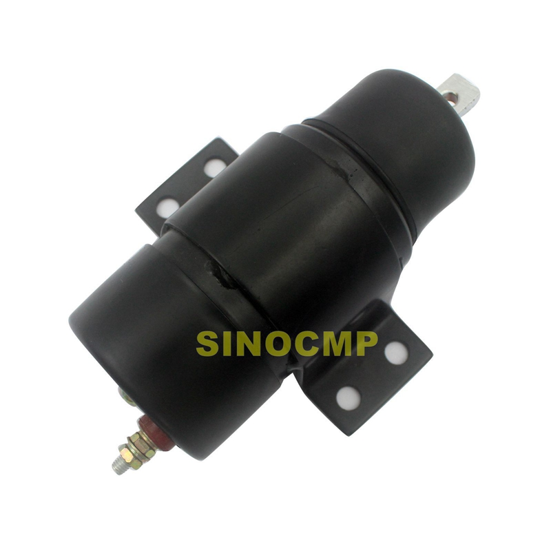 24v fuel stop shutdown shut off flameout solenoid ME040145 053400 0745 for Kato excavator