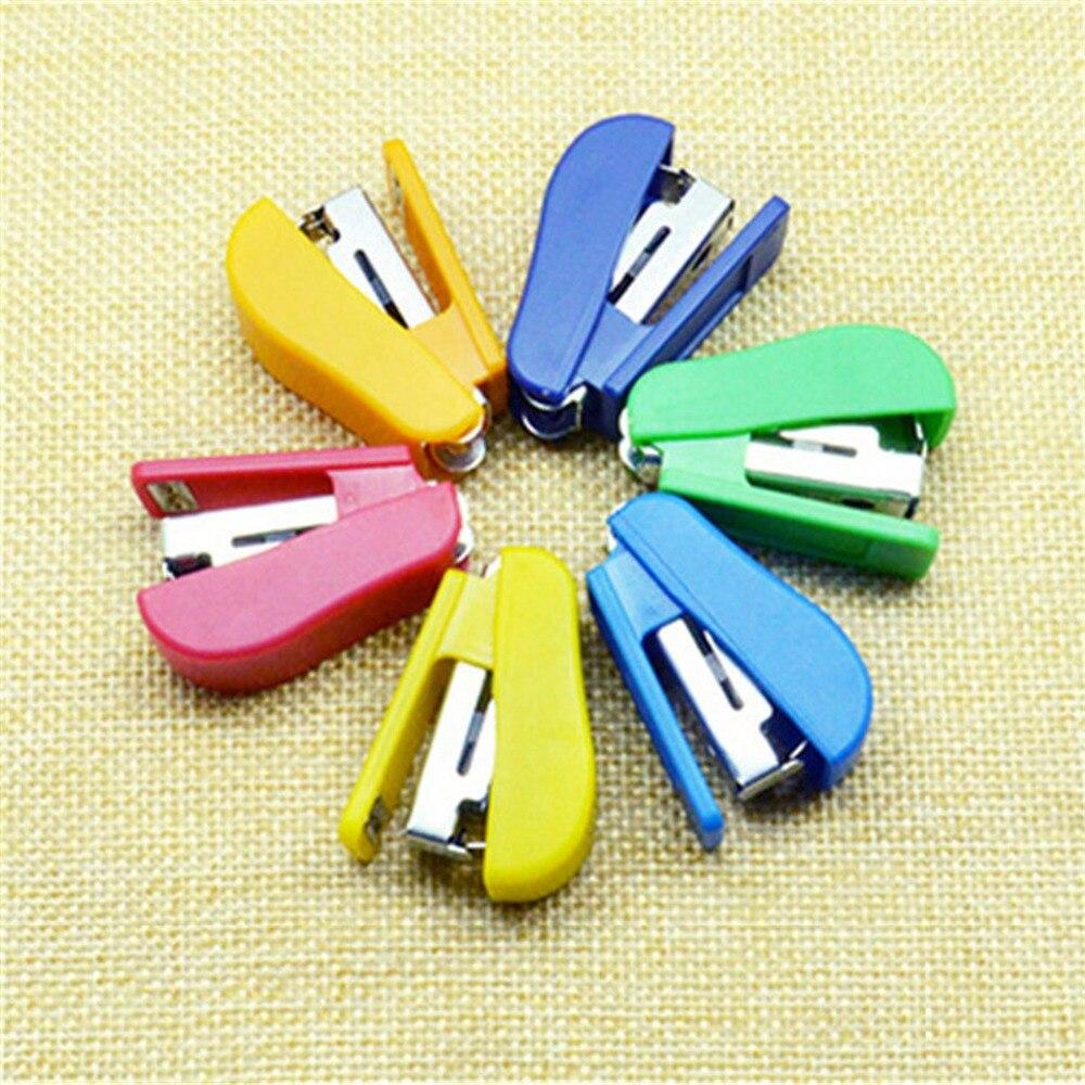 Mini Stapler Paper Room 1PCS Mini Stapler Plastic Stationery Set Accessories About 100Pcs Staple School Stationery