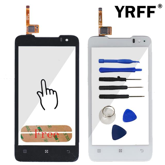 Novo toque de vidro do painel frontal da tela de toque para lenovo p770 digitador substituição do sensor de vidro do painel frontal + adesivo frete grátis
