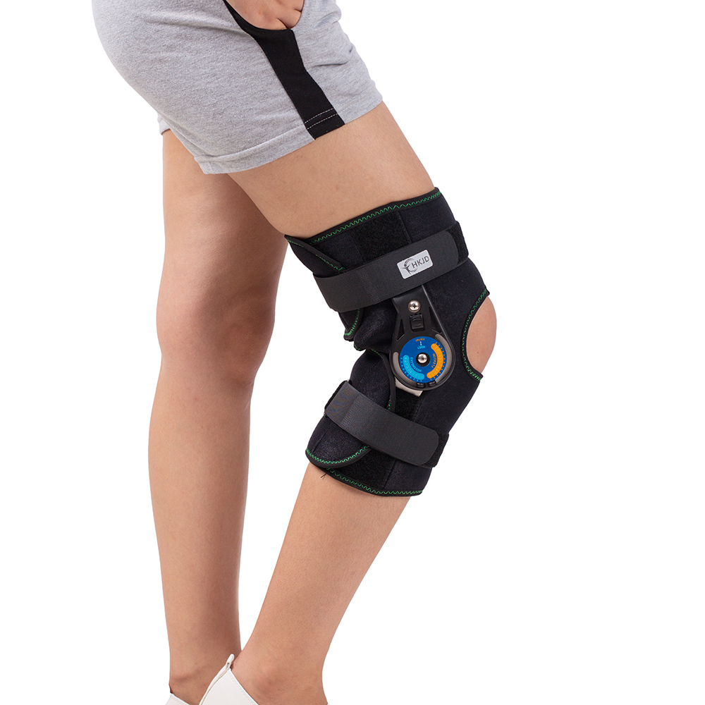 Hinged Knee Patella Brace Support Stabilizer Pad Belt Band Strap Orthosis Splint Wrap Immobilizer Guard ROM Knee Brace 1 piece leg elastic sports knee brace wrap protector cap patella knee guard rubber pressurization knee sleeve pads q7 brand new
