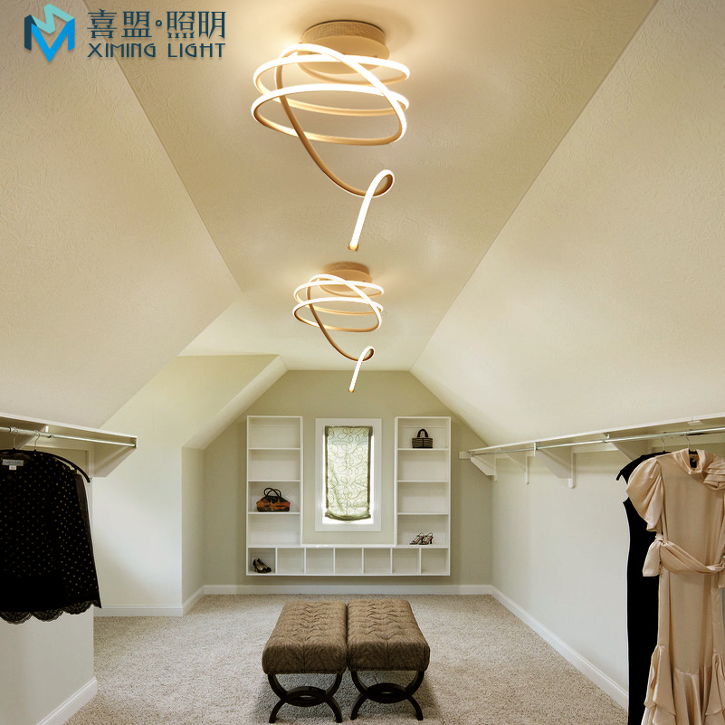 New Modern pendant lights for living room dining room Circle Rings acrylic LED Lighting ceiling Lamp fixtures ...