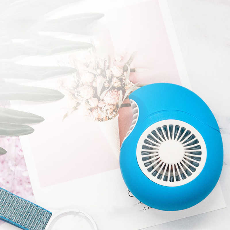 Outdoor Draagbare Handheld Radiator Fan Cartoon Conch Mini Fan Verstelbare Usb Opladen Ventilator Pols Koelventilator
