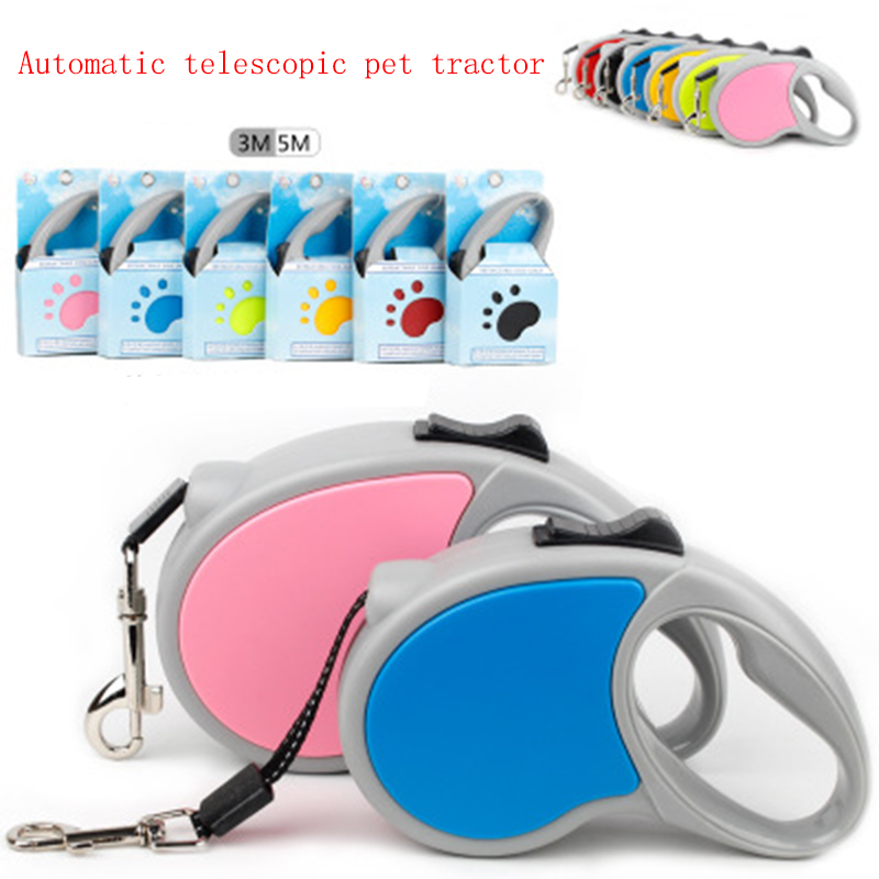 1PC 3/5M New Pet Leash Dog Automatic Retractable  Chain Portable Traction Rope Adjustable traction rope For Small Medium
