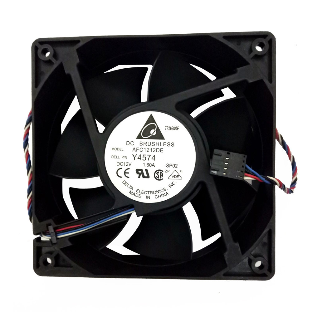 2018 New Hi-speed 3700 Cooling pc cpu cooler <font><b>120</b></font> <font><b>mm</b></font> <font><b>fan</b></font> Replacement 4-pin Connector For Antminer Bitmain S7 S9 for video card image