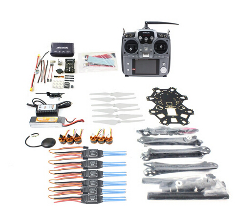 купить F08618-W DIY FPV Drone Hexacopter 6-axle Aircraft Kit HMF S550 Frame PXI PX4 Flight Control 920KV Motor GPS AT10 Transmitter недорого