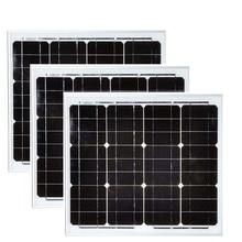 Monocrystalline Solar Panel China 12v 30w 3 Pcs Modules 90w 36v Battery Charger Motorhome Caravan Car Camping RV