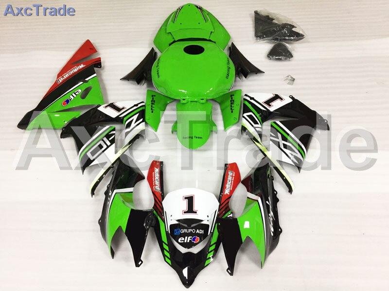 Moto Carénages Kits Pour Kawasaki Ninja ZX10R ZX-10R 2004 2005 04 05 ABS Injection Plastique Carénage Carrosserie Kit Vert Rouge