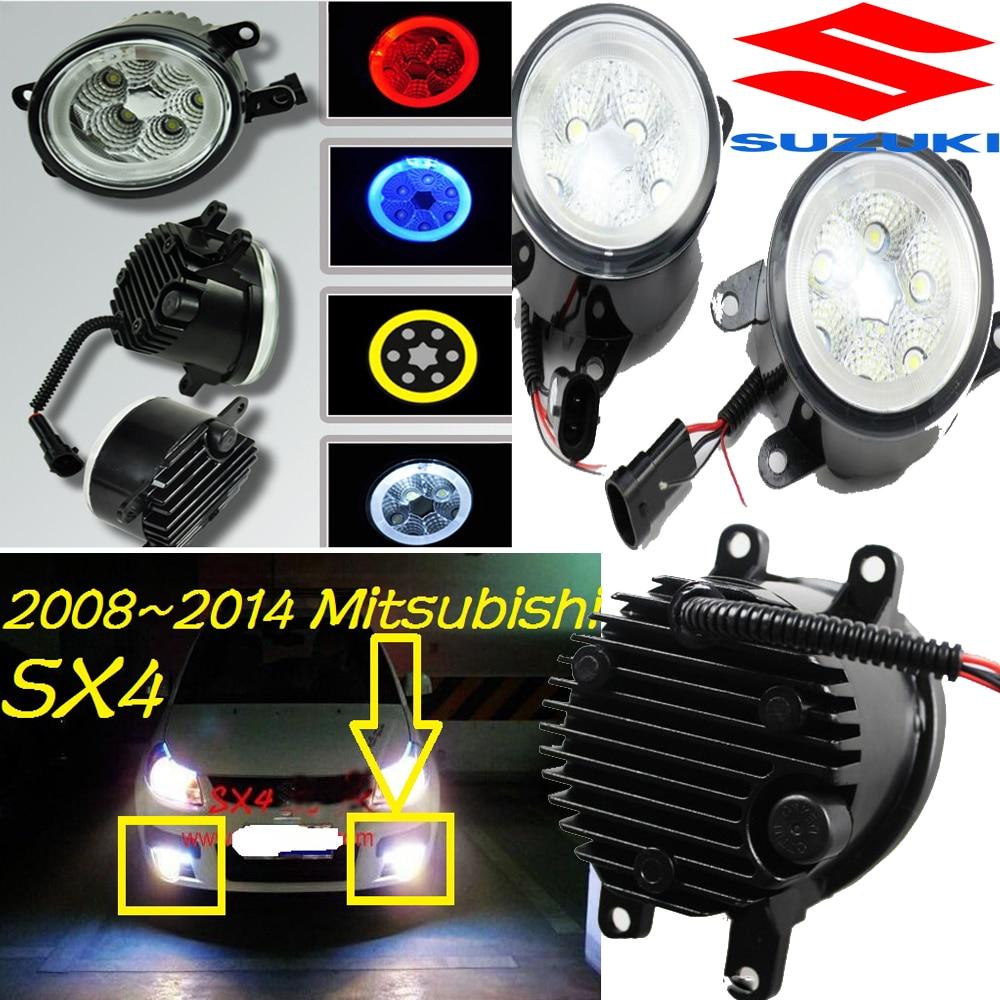 Suzuke SX4, который противотуманные фары,2007~2012,2 шт/комплект,optonal:белый,желтый,синий,красный,SX4, который дневной свет,СИД,Бесплатная доставка! SX4, который фары